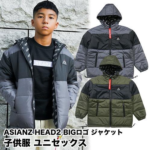 ASIANZ HEAD2 中綿BIGロゴ ジャケット