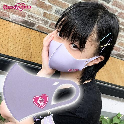 Candychuu  ラベンダー ハートロゴ マスク (20055339)