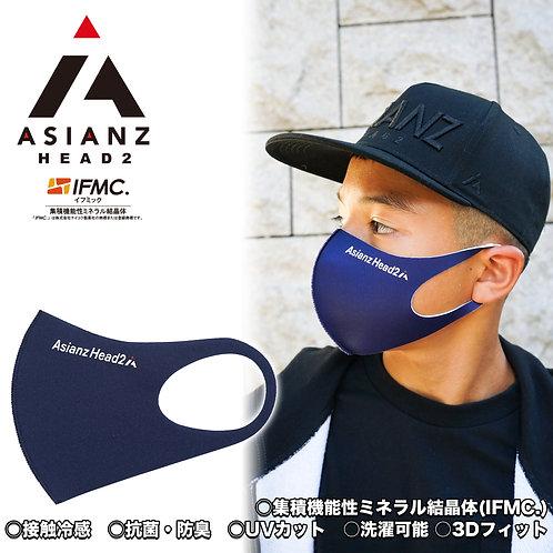 ミネラル マスク ASIANZ HEAD2 ロゴ ネイビー (20065183)