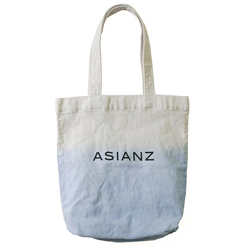 ASIANZ LIMITED カスタム ロゴトートバッグ (ブルー)