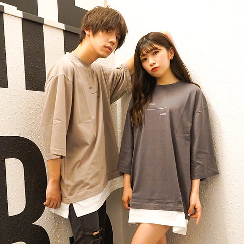 ASIANZ 5部丈BACKラベルロゴ  Tシャツ