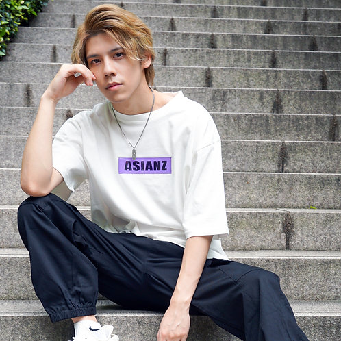 ASIANZ PVC BOX LOGO T-シャツ