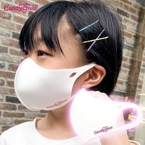 Candychuu ホワイト ロゴ マスク (20055201)