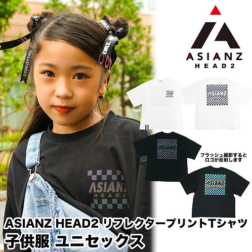 ASIANZ HEAD2 リフレクタープリントTシャツ