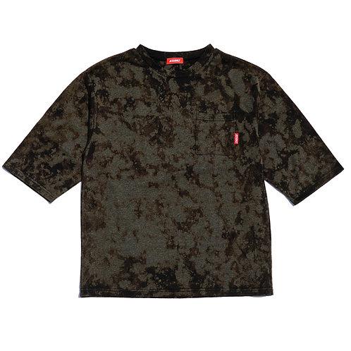ASIANZ LIMITED カスタム 6分袖ポケットTシャツ  Mサイズ(ブラック/グレー)