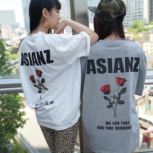 ASIANZ バラロゴ T-シャツ