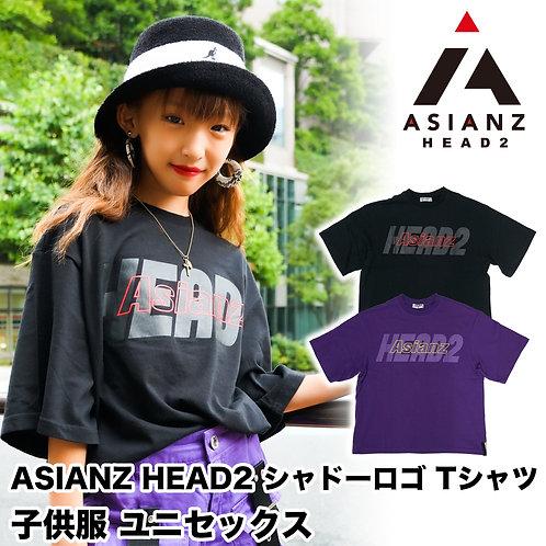 ASIANZ HEAD2 シャドーロゴ Tシャツ