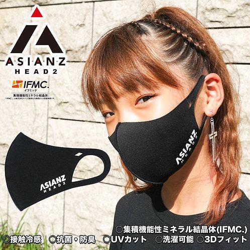 ASIANZ HEAD2 LOGOスポーツクールマスク ブラック (20062503)
