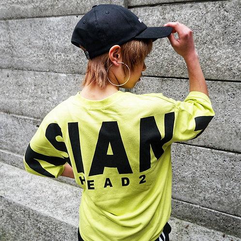ASIANZ HEAD2バックロゴワイドTシャツ