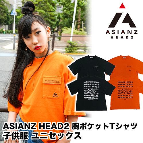 ASIANZ HEAD2 胸ポケットTシャツ