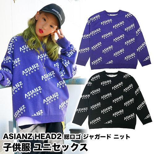 ASIANZ HEAD2 総ロゴジャガードニット