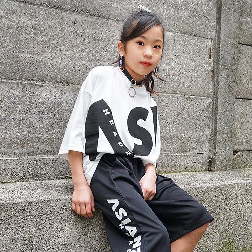 ASIANZ HEAD2 ビッグロゴワイドTシャツ
