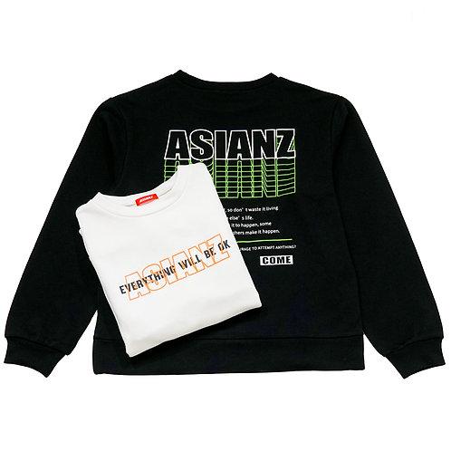 ASIANZ キュービックロゴ トレーナー