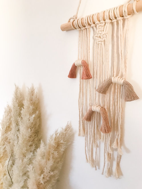 little macrame muted rainbow hanging