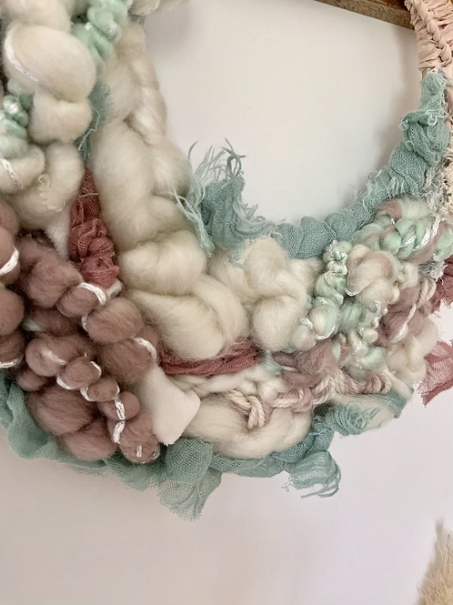 "12"" woven 'mermaid' 🧜🏼♀️ inspired crescent"