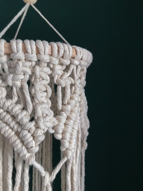 little macrame hanging mobile