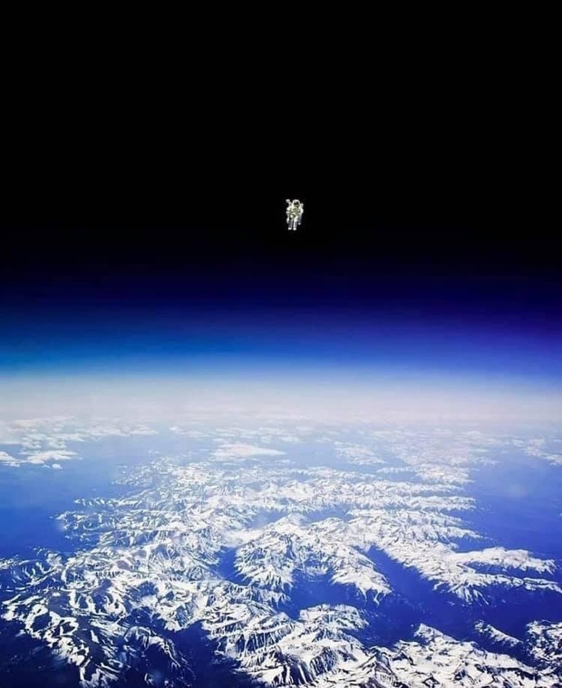 Bruce McCandless II Floating