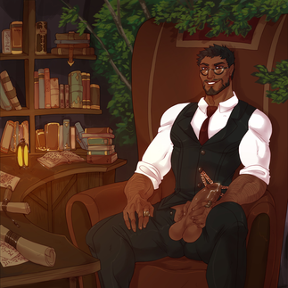 LiHuan FFXIV OC office library