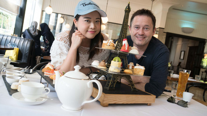 French Style Afternoon Tea at Cafe Claire - Oriental Residence on Wireless Road in Bangkok