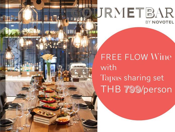 Novotel Bangkok Sukhumvit 20's Gourmet Bar Free Flow Wine and Tapas Promo and back to Sky On 20!