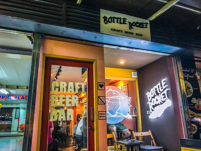 Bottle Rocket Craft Beer Bar - A Quirky Bar with Serious Beer on Phra Athit Road Bangkok