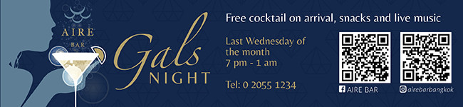 Monthly Gals Night for all Ladies and Ladies at Heart @ Aire Bar - Hyatt Place Bangkok Sukhumvit