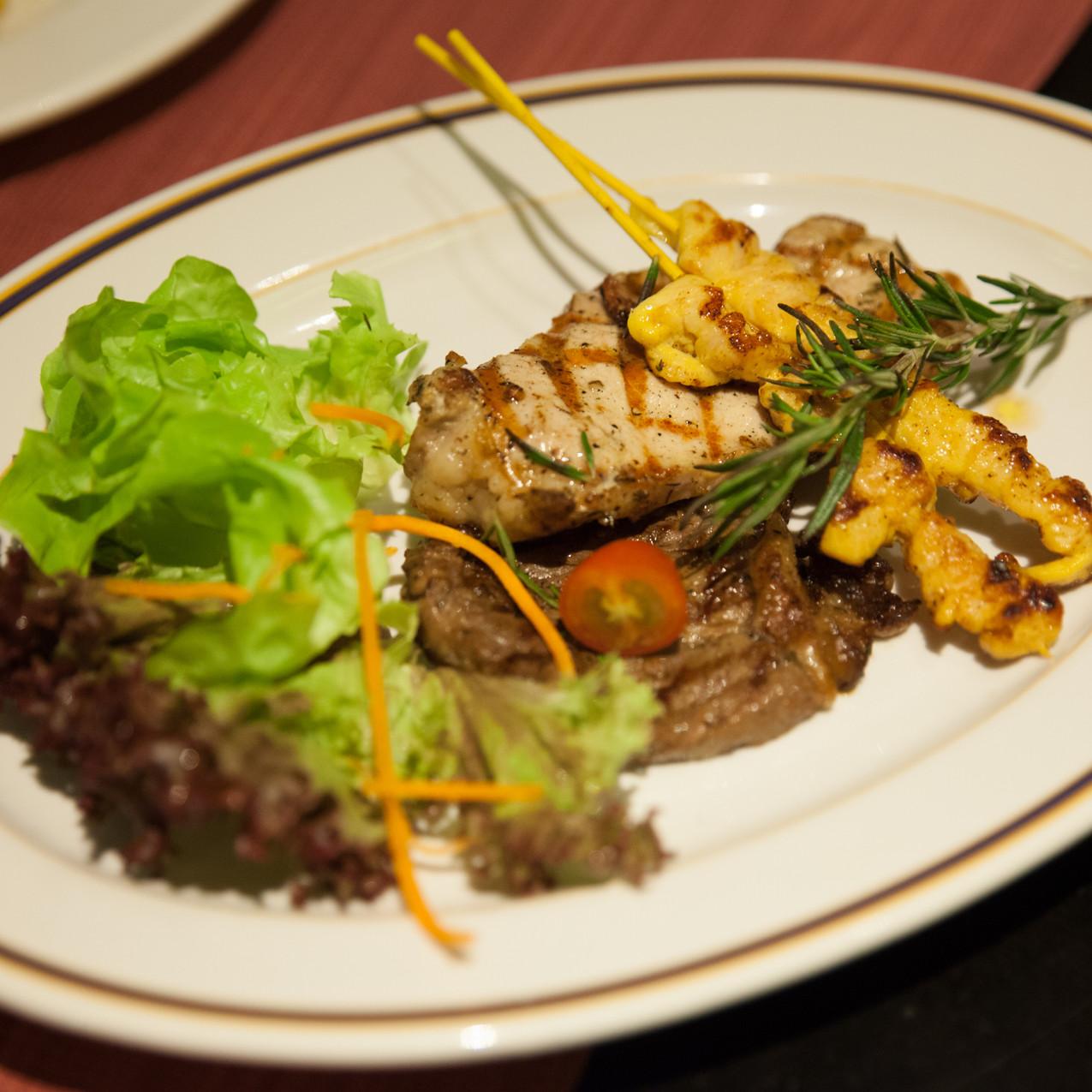 Grilled Beef, Chicken & Pork