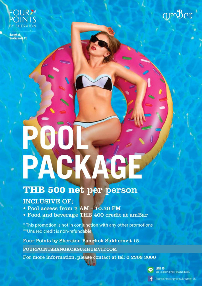 amBar at Four Points by Sheraton Bangkok's Cool Pool Package Promotion!