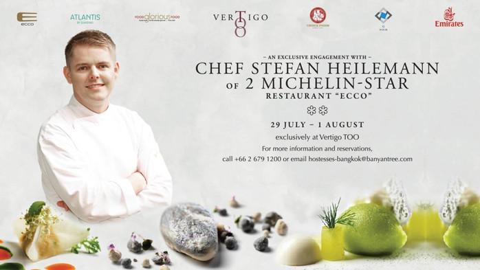 "Banyan Tree Bangkok's Premiere of Chef Stefan Heilemann of 2 Michelin-Star Restaurant ""Ecco"
