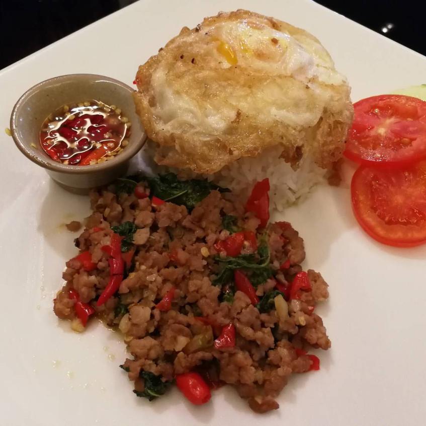 Minced Pork w/Thai Chili and Basili