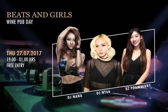 Pullman Bangkok King Power - Beats & Girls @ Wine Pub - July 27, 2017 - Free Entry