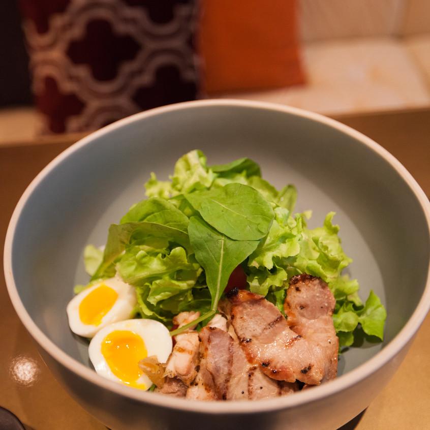 Roast Chicken and Pork Salad