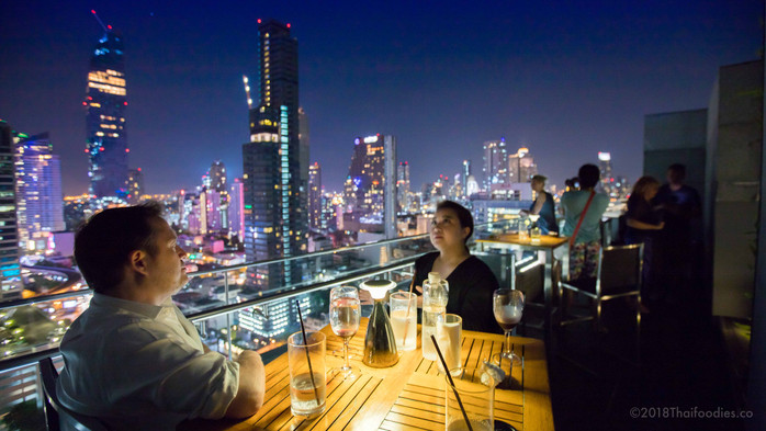 Aka Aza Rooftop Bar Review - Yummy Snacks, Cool Drinks and Stunning Views on Surawong Road Bangkok