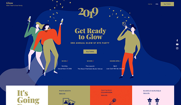 Akce website templates – Silvestrovská party