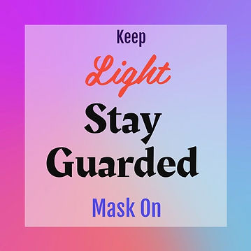 Keep Light Stay Guarded Mask On. Mask Guard Antimicrobial Collagen Mask