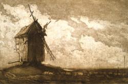 Дерегус. Вітряк у степу. 1958