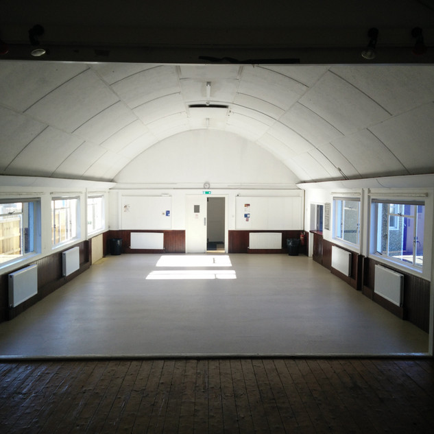 St Johns Hall - inside view from stage .