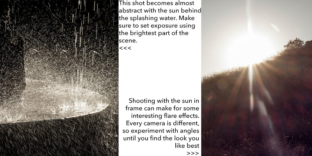photography tips for side or back light