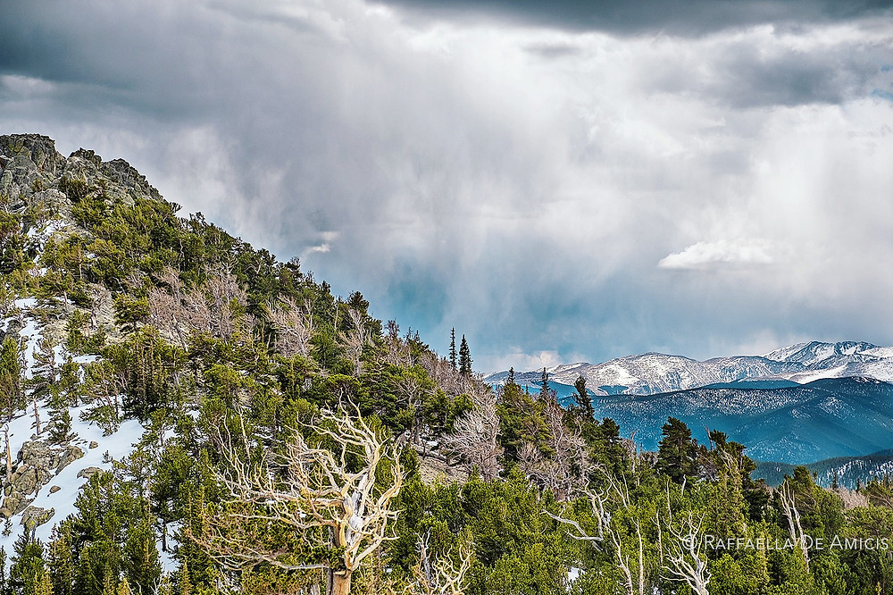 Storm in the mountains of Colorado