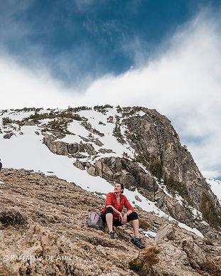 Woman on St. Mary's Glacier in Colorado