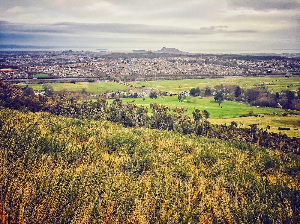 View of Edinburgh from Pentland Hills