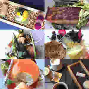 6 course dinner at Aizle in Edinburgh