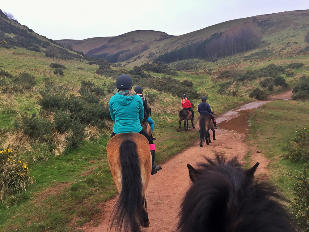 pony ride at exmoor in pentland hills