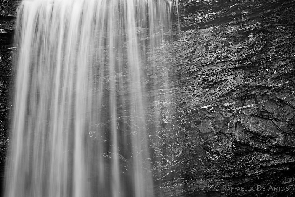 long exposure black and white waterfall