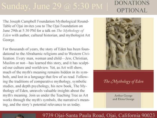 Mythology of Eden, with Art George – June – 20 – Joseph Campbell Foundation Mythol