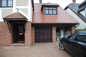 Existing linked double garage