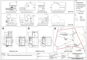 Planning application layouts