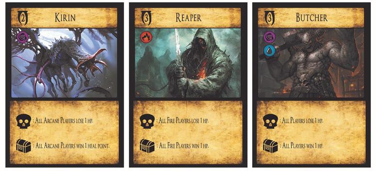 Cartes monstres