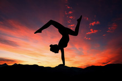 Canva - Silhouette of a Woman Doing Yoga (1)