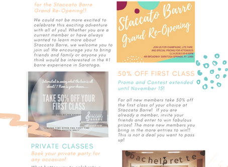 Welcome to the Staccato Barre Blog